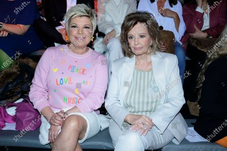 Stock Photo of Maria Teresa Campos and Terelu Campos during in fashion show during Mercedes Benz Fashion Week Madrid Autumn/Winter 2020-21 on January 29, 2020 in Madrid, Spain