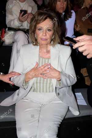 Stock Image of Maria Teresa Campos during in fashion show during Mercedes Benz Fashion Week Madrid Autumn/Winter 2020-21 on January 29, 2020 in Madrid, Spain