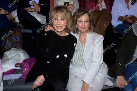 Maria Teresa Campos and Mila Ximenez during in fashion show during Mercedes Benz Fashion Week Madrid Autumn/Winter 2020-21 on January 29, 2020 in Madrid, Spain