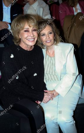 Stock Picture of Maria Teresa Campos and Mila Ximenez during in fashion show during Mercedes Benz Fashion Week Madrid Autumn/Winter 2020-21 on January 29, 2020 in Madrid, Spain