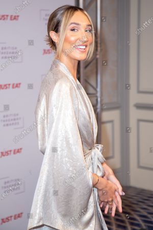 Megan McKenna attends the fifth annual British Takeaway Awards, in association with Just Eat at The Savoy Hotel 27 January, 2020 in London, England.