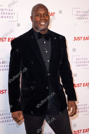 Martin Offiah attends the fifth annual British Takeaway Awards, in association with Just Eat at The Savoy Hotel 27 January, 2020 in London, England.