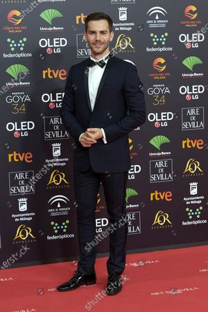 Marc Clotet attends the 34th 'Goya' Cinema Awards 2020 Red Carpet photocall at Jose Maria Martin Carpena Sports Palace in Malaga, Spain on Jan 25, 2020