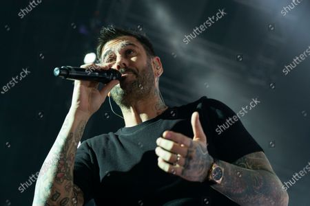 The Spanish singer Melendi during his performance at the sports palace in Madrid, Spain on January 17, 2020.