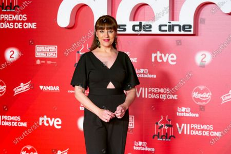 Stock Image of Actress Pepa Aniorte attends 'Dias de Cine' awards at the Reina Sofia Art Museum on January 14, 2020 in Madrid, Spain.