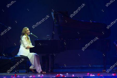 Maria Toledo the singer Maria Toledo during her performance Corazonadas tour in Madrid on 13 January 2020. Spain
