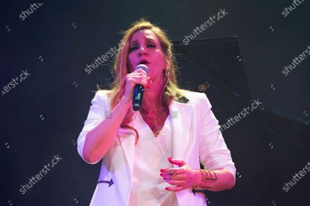 the singer Maria Toledo during her performance Corazonadas tour in Madrid on 13 January 2020. Spain