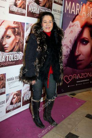 Elena Tablada attends the photocall for Maria Toledo Corazonadas tour in Madrid on 13 January 2020. Spain