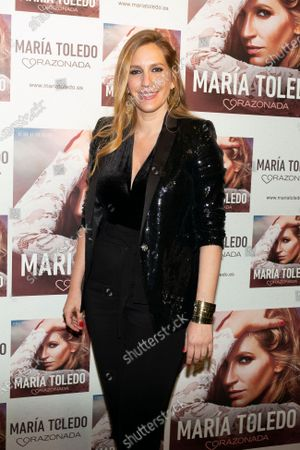 Maria Toledo attends the photocall for Maria Toledo Corazonadas tour in Madrid on 13 January 2020. Spain