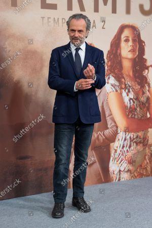 Spanish actor Jose Coronado attends 'Vivir Sin Permiso' Mediaset Presentation on January 10, 2020 in Madrid, Spain.