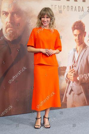 Spanish actress Marta Larralde attends 'Vivir Sin Permiso' Mediaset Presentation on January 10, 2020 in Madrid, Spain.