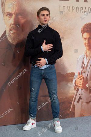 Spanish actor Patrick Criado attends 'Vivir Sin Permiso' Mediaset Presentation on January 10, 2020 in Madrid, Spain.