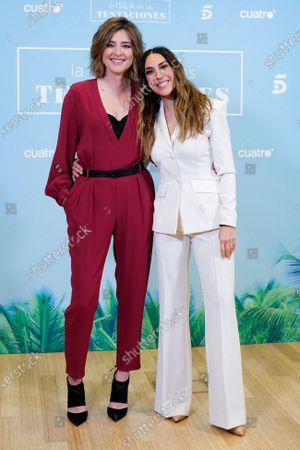 Sandra Barneda and Monica Naranjo attend 'La isla de las tentaciones' Tv show presentation on January 8, 2020 in Madrid, Spain.