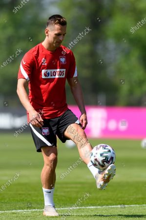 Polish national soccer team player Arkadiusz Milik during a training session in Opalenica, Poland, 03 June 2021. Poland is preparing for the UEFA EURO 2020 tournament and will face Spain, Sweden and Slovakia in their Group E stage.