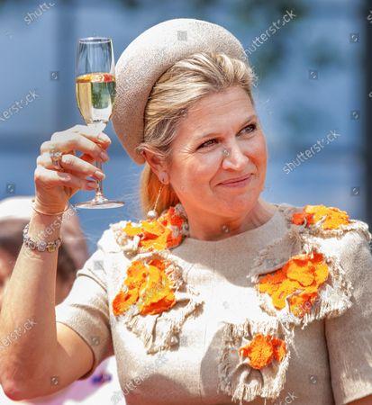 Queen Maxima at the opening of Hesselink Koffie's new business premises, Winterswijk