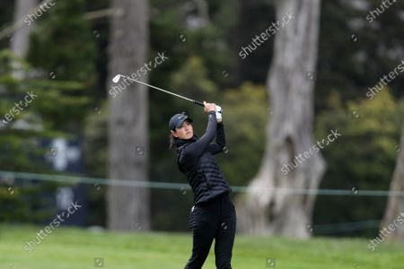 Michelle Wie West during the first round of the U.S. Women's Open golf tournament at The Olympic Club, in San Francisco