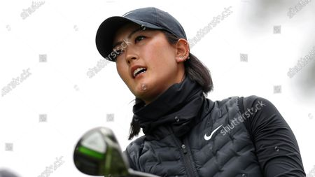 Michelle Wie West plays her shot from the sixth tee during the first round of the U.S. Women's Open golf tournament at The Olympic Club, in San Francisco