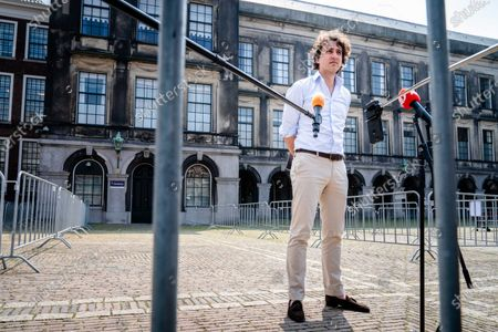 Party leader Jesse Klaver (Green Left) after a conversation with inquirer Mariette Hamer, in The Hague, The Netherlands, 03 June 2021. According to those involved, the formation of a new cabinet is in a complex phase.
