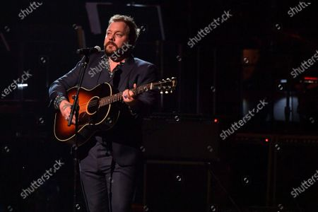 Stock Picture of Nathaniel Rateliff performs at the Fifth Annual Love Rocks NYC Benefit Concert Livestream for God's Love We Deliver.