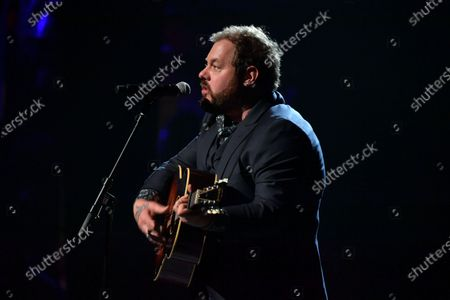Stock Image of Nathaniel Rateliff performs at the Fifth Annual Love Rocks NYC Benefit Concert Livestream for God's Love We Deliver.