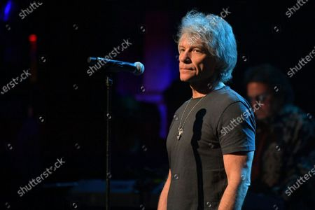 Jon Bon Jovi performs at the Fifth Annual Love Rocks NYC Benefit Concert Livestream for God's Love We Deliver.