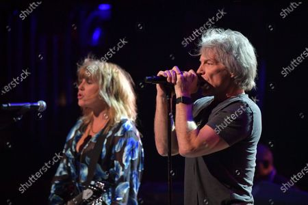 Grace Potter and Jon Bon Jovi perform at the Fifth Annual Love Rocks NYC Benefit Concert Livestream for God's Love We Deliver.