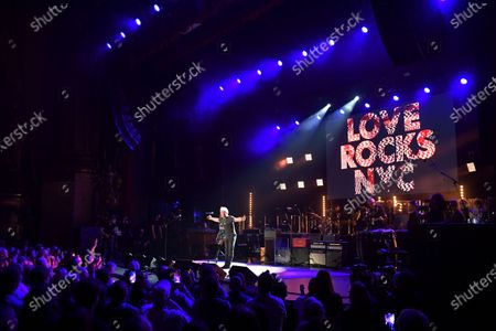 Stock Image of Grace Potter and Jon Bon Jovi perform at the Fifth Annual Love Rocks NYC Benefit Concert Livestream for God's Love We Deliver.