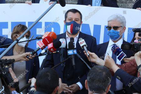 Stock Picture of Giulia Bongiorno, Matteo Salvini, Maurizio Turco