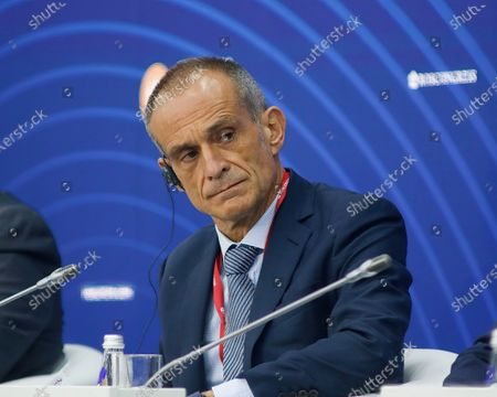 """Jean-Pascal Tricoire, Chairman, Chief Executive Officer, Schneider Electric speaks at the St. Petersburg International Economic Forum on """"Russia Frances""""."""