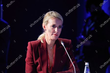 "Speaker Ksenia Sobchak, Journalist, TV presenter at the St. Petersburg International Economic Forum, The Business programme on ""Bloggers: A New Media?""."