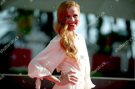 Stock Picture of Spanish actress Maria Castro on the red carpet inside Miramar hotel.