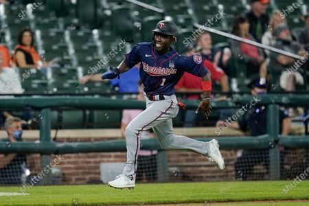 Minnesota Twins' Nick Gordon runs to home while scoring on a triple by Ryan Jeffers against the Baltimore Orioles during the eighth inning of a baseball game, in Baltimore. The Orioles won 6-3