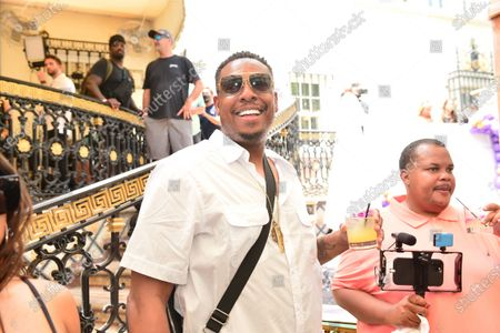 Former NBA player Paul Pierce attends media availability ahead of the June 6th exhibition boxing match between Floyd Mayweather Jr and Logan Paul at the Villa Casa Casuarina the former Versace Mansion on Ocean Drive. Mayweather will fight Paul in an exhibition match at the Hard Rock Stadium in Miami Gardens, Fla. Sunday June 6, 2021