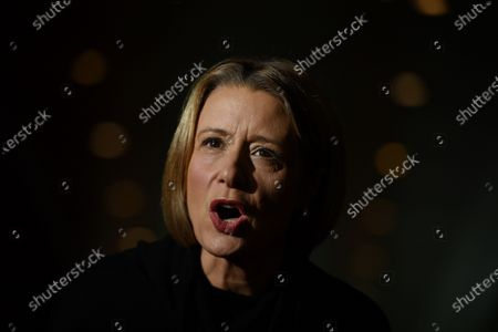 Stock Photo of Shadow Minister for Home Affairs Kristina Keneally speaks at a press conference at Parliament House in Canberra, Australia, 04 June 2021.