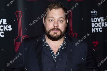Stock Photo of Nathaniel Rateliff arrives to the fifth annual Love Rocks NYC concert to benefit God's Love We Deliver at the Beacon Theatre, in New York