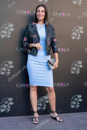 Stock Image of Maria Jose Besora at photocall for presentation Gold Music Club in Principe Pio theater