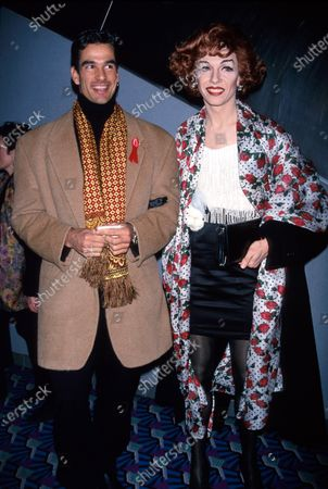 (L-R) Choreographer Jerry Mitchell and drag artiste Lypsinka John Epperson.