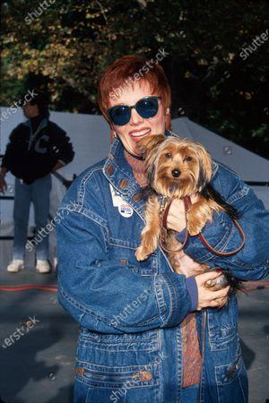 Actress Maureen McGovern and her dog.