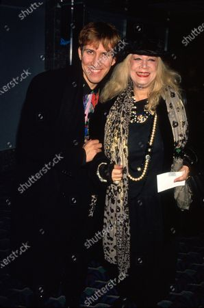 Editorial picture of Sylvia Miles;Mark Kostabi