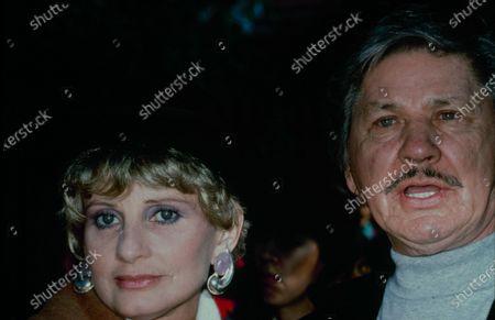 UNITED STATES - circa 1989: Charles Bronson and Jill Ireland.