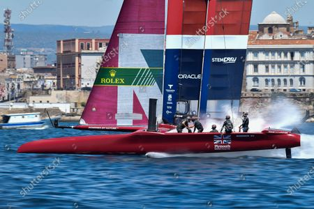 Great Britain SailGP Team helmed by interim skipper Paul Goodison in action during a practice session ahead of Italy SailGP, Event 2, Season 2SailGP