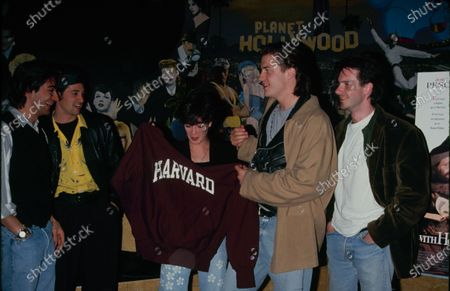 UNITED STATES - circa 1994: Actors Moira Kelly, Brendan Fraser and Josh Hamilton (right) at Planet Hollywood, publicising their film 'With Honors'.