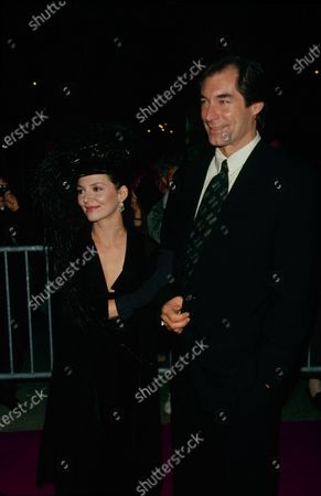 UNITED STATES - circa 1994: Actor Timothy Dalton with actress Joanne Whalley-Kilmer.