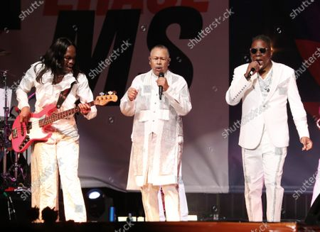 Stock Image of Verdine White, Ralph Johnson and Philip Bailey - Earth, Wind and Fire