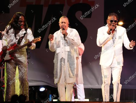 Stock Picture of Verdine White, Ralph Johnson and Philip Bailey - Earth, Wind and Fire