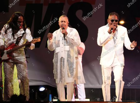 Stock Photo of Verdine White, Ralph Johnson and Philip Bailey - Earth, Wind and Fire