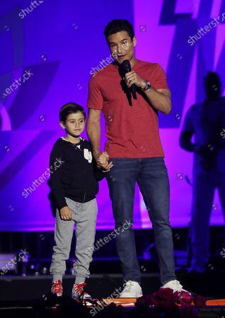 Mario Lopez and son Dominic Drive-In to Erase MS, Show, Los Angeles, California, USA - 04 Jun 2021  Pasadena, California   Photo © Matt Baron/REX/Shutterstock