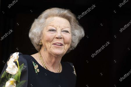 Dutch Princess Beatrix arrives at the Royal Palace for the presentation of the Silver Carnations of the Prince Bernhard Cultuurfonds in Amsterdam, the Netherlands, 04 June 2021. Both the 2021 and the 2020 laureates received their Silver Carnations during the ceremony as the presentation of the awards was postponed in 2020 due to the coronavirus COVID-19 pandemic.