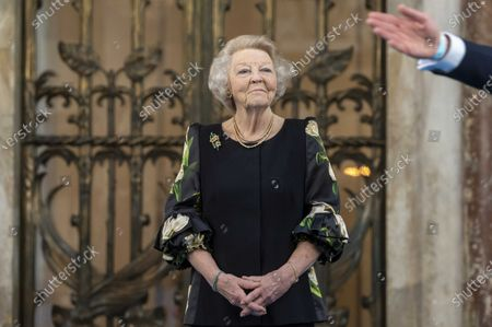 Dutch Princess Beatrix presents the Silver Carnations of the Prince Bernhard Cultuurfonds at the Royal Palace in Amsterdam, the Netherlands, 04 June 2021. Both the 2021 and the 2020 laureates received their Silver Carnations during the ceremony as the presentation of the awards was postponed in 2020 due to the coronavirus COVID-19 pandemic.