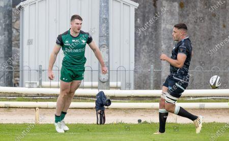Connacht vs Ospreys. Connacht's Peter Sullivan celebrates scoring a try